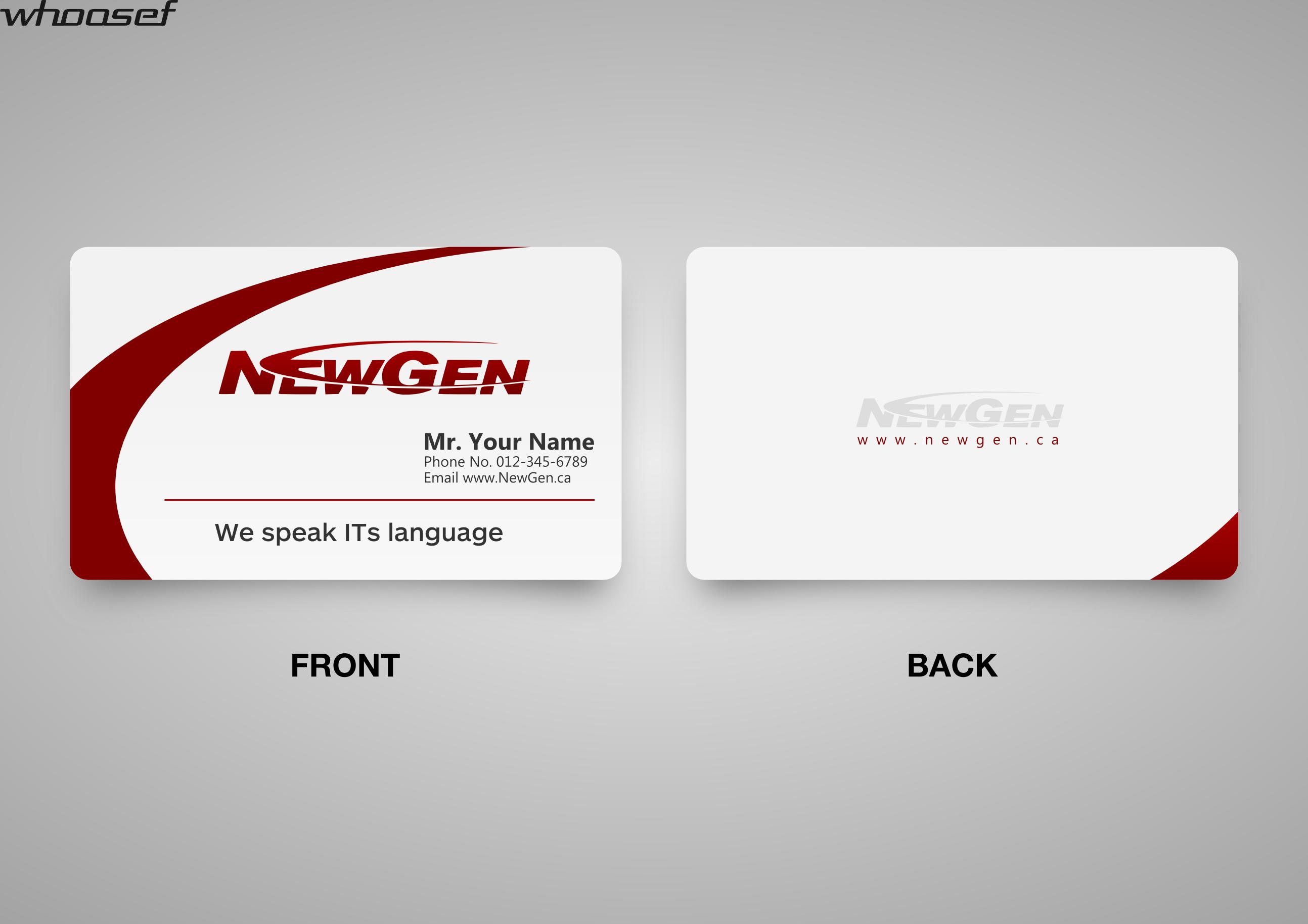 Logo visiting card design - oukas.info