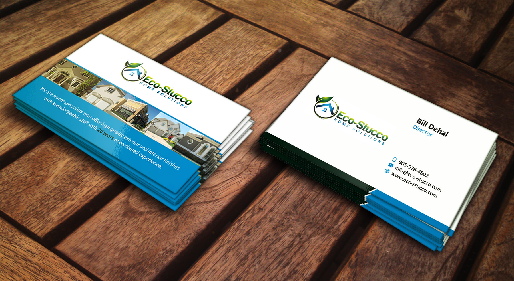 Construction business card sample