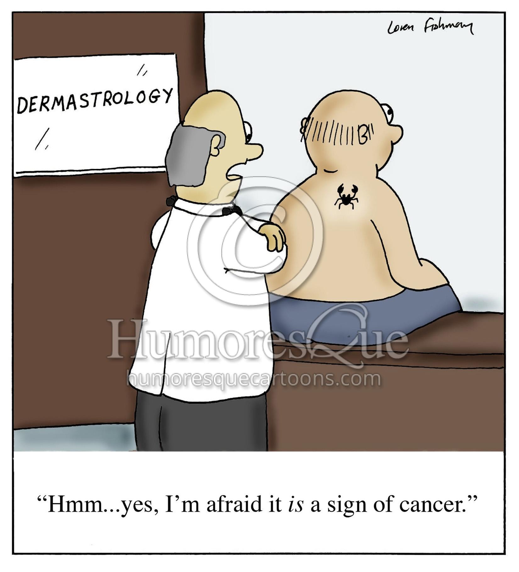 dermastrology mole is a sign of cancer dermatology astrology cartoon
