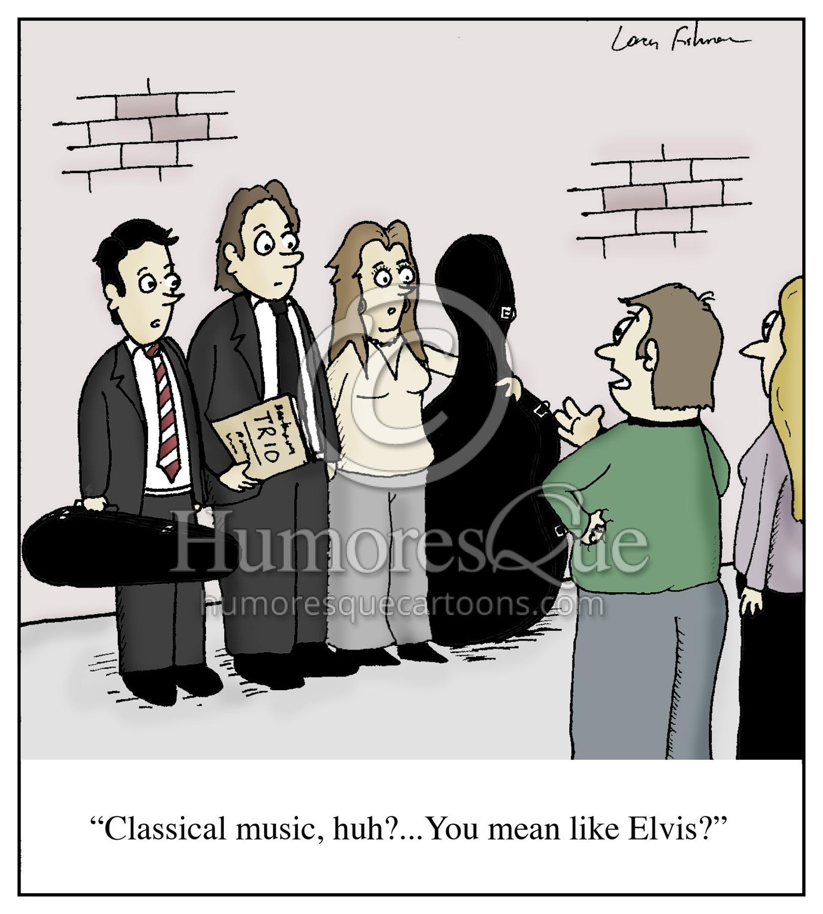 classical music elvis cartoon