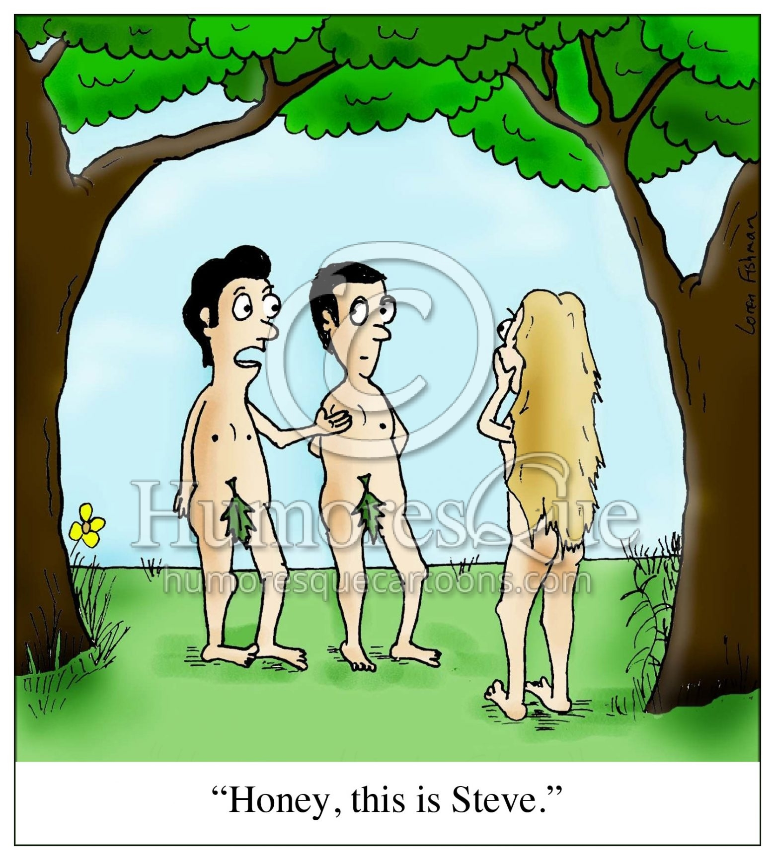 cartoon about adam and steve