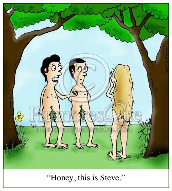 cartoon about adam and steve