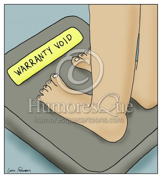 scale warranty void cartoon