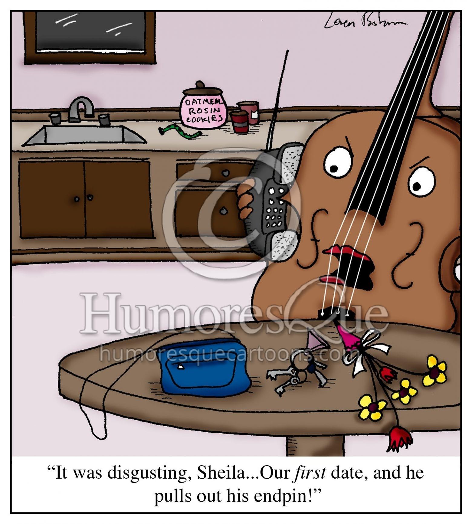 cello endpin dating dick joke cartoon