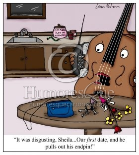 cello endpin dating dick joke cartoon