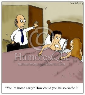 affairs and cheating cliche marriage cartoon
