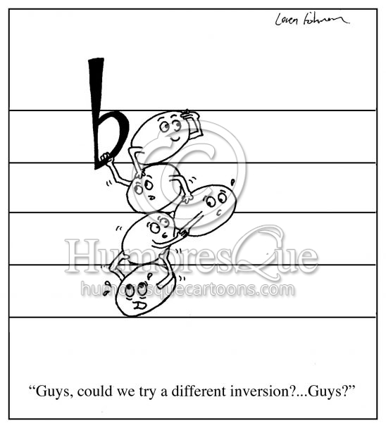 different inversion note stacking cartoon