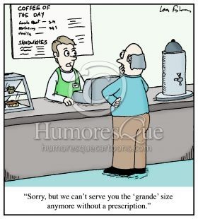 grande coffee prescription drug cartoon