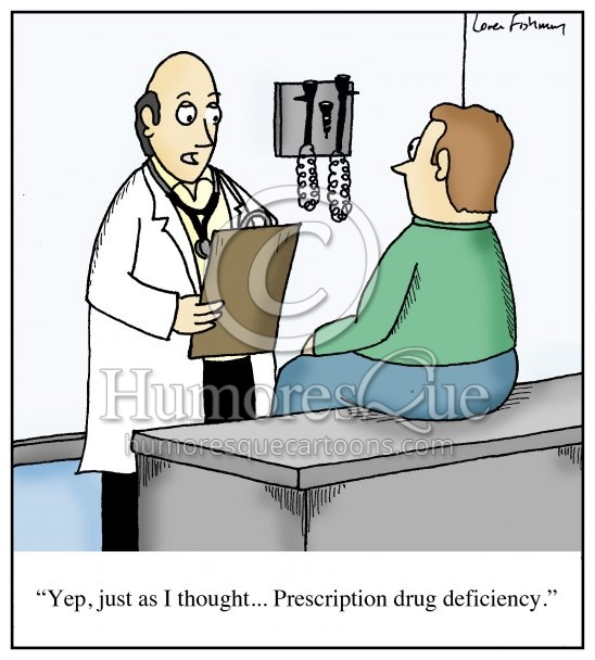 prescription drug deficiency cartoon