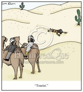 crawling through the desert tourist cartoon