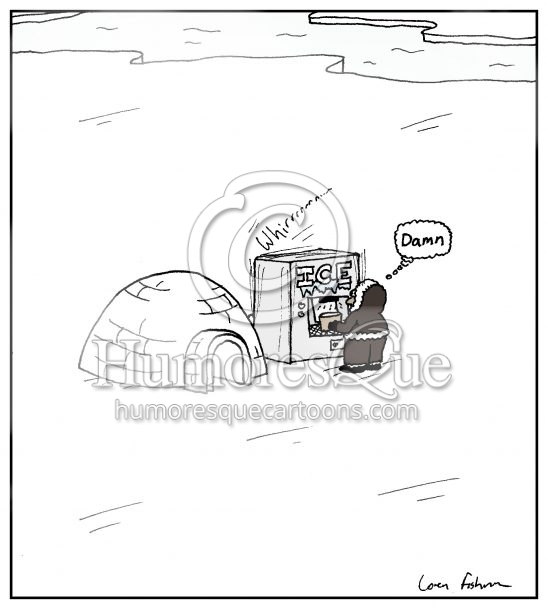 arctic ice machine hotel cartoon