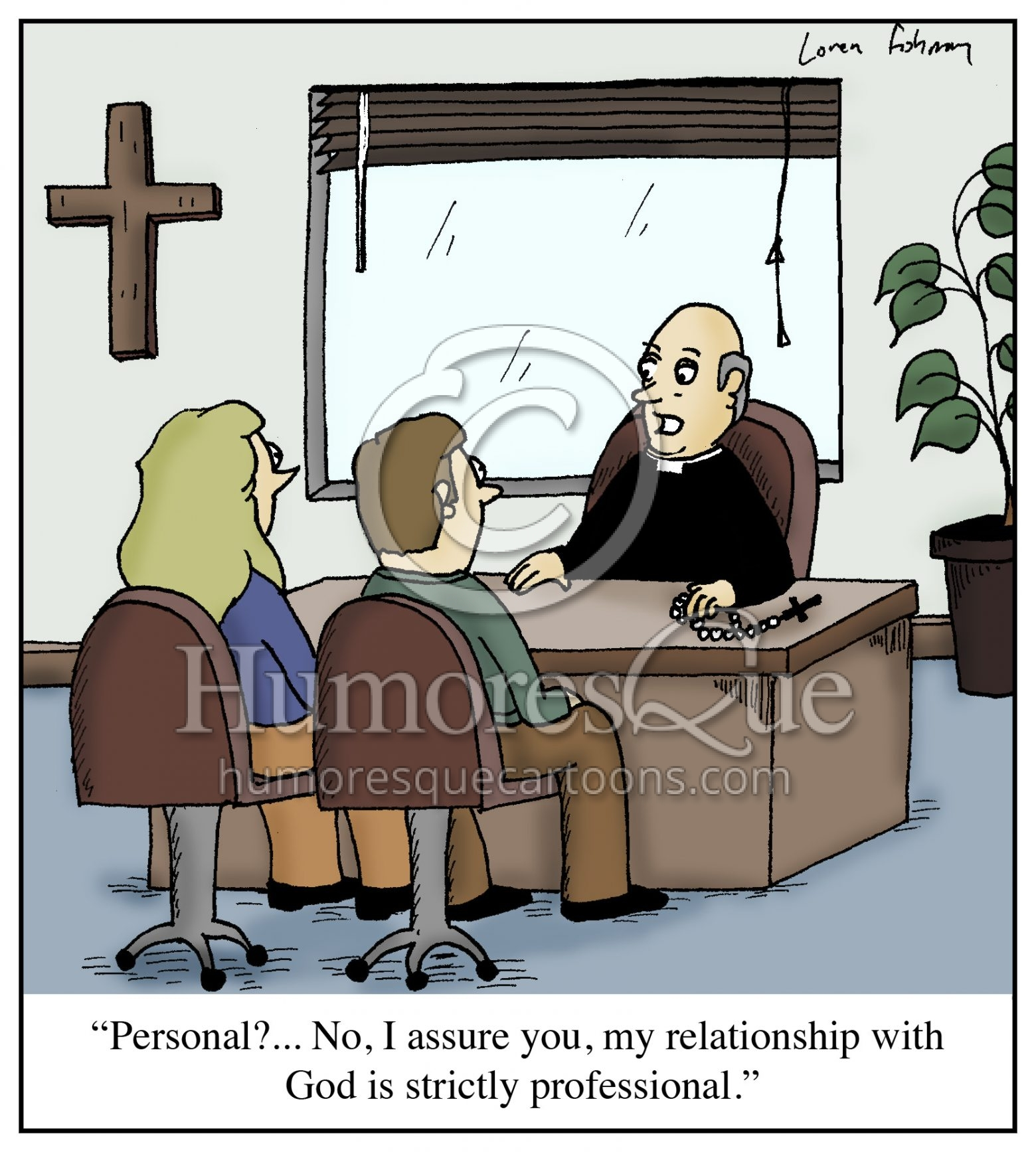 personal or professional relationship with god cartoon