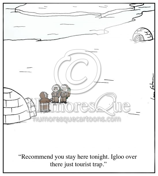 igloo tourist trap vacation cartoon
