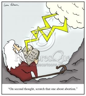 abortion in the ten commandments moses cartoon