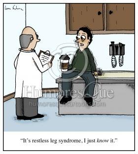 restless leg syndrome coffee cartoon
