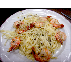 Shrimp Scampi with Pasta, Average