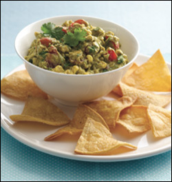 HG's Rockin' Roasted Corn Guac 'n Chips