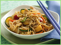 Asian peanut sauce beansprouts tofu Her Teen