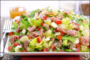 Healthy Salad Recipes: Beef Teriyaki Salad, Hawaiian Pizza Salad