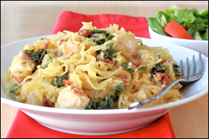 ... Pasta Recipes: Spicy Chicken-Sausage Penne, Kale Spaghetti Squash