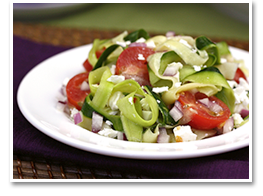 Hungry Girl's Zucchini-Ribbon Salad