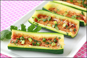 Hungry Girl's BBQ Zucchini Skins