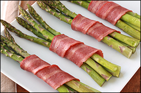 Hungry Girl's Bacon-Bundled Asparagus