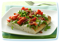 Hungry Girl's BLT Pizza