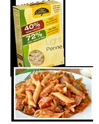 High-fiber pasta