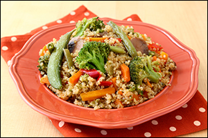 Hungry Girl's Veggie-Quinoa Stir-Fry