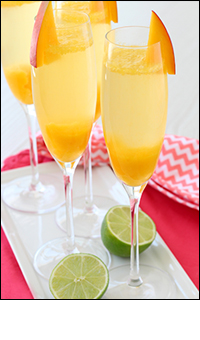 Hungry Girl's Mango-Lime Bellinis