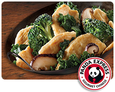 Panda Express Shiitake Kale Chicken Breast