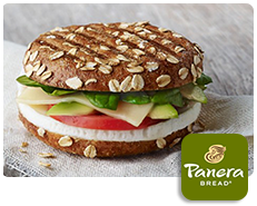 Panera Bread Egg White, Avocado & Spinach Breakfast Power Sandwich