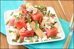 Hungry Girl's Happy Jicama Watermelon Salad