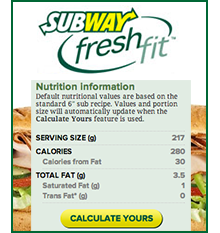 Order Smart at Subway