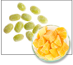Desserts with 100 Calories or Less: Frozen Grapes or Mango Chunks