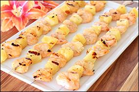 Hungry Girl's Sweet Heat Shrimp & Pineapple Skewers