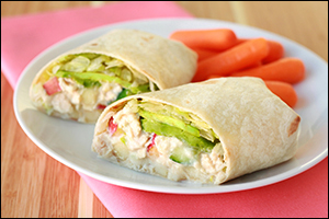 ... Lunch Recipes: Mexican Chicken Wrap, Tuna Avocado Wrap | Hungry Girl