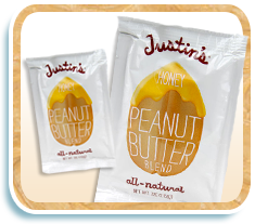 Justin's All-Natural Honey Peanut Butter in 80-Calorie Squeeze Packs