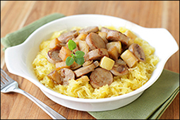 Hungry Girl's Chicken Sausage & Apple Spaghetti Squash
