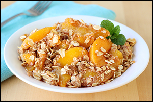 Hungry Girl's Peachy Crumble