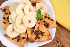 Hungry Girl's Chocolate Banana Nachos