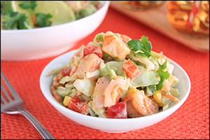 Hungry Girl's Grilled Shrimp & Avocado Slaw