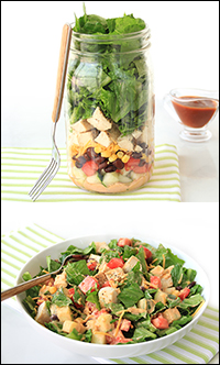 Hungry Girl's BBQ Ranch Chicken Salad in a Jar