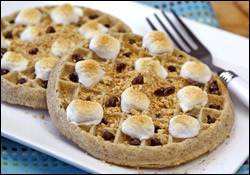 Low-Calorie Waffle Recipes: Waffle Breakfast Tacos, S'mores Waffles