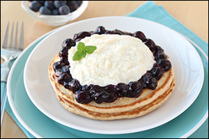 Hungry Girl's True Blueberry Cannoli Pancakes