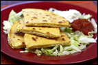Double-Cheese Corn Quesadilla