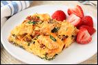Mini Meals vs. Three Square Meals: Waffle B-fast Casserole