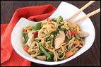 Mini Meals vs. Three Square Meals: Zucchini So Lo Mein with Chicken