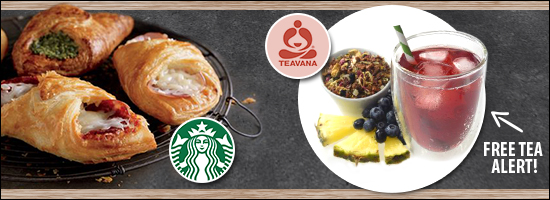 Starbucks News: Savory Foldovers & Free Teavana Iced Tea